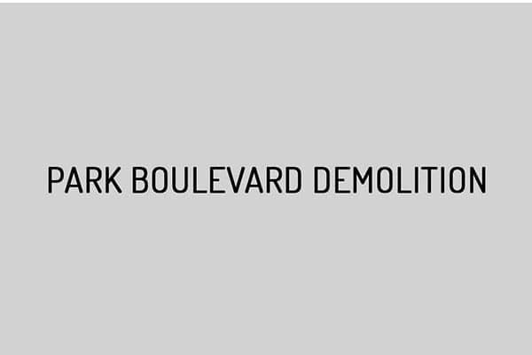 Park Boulevard Demolition