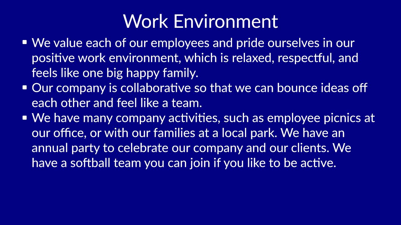 Workenvironment